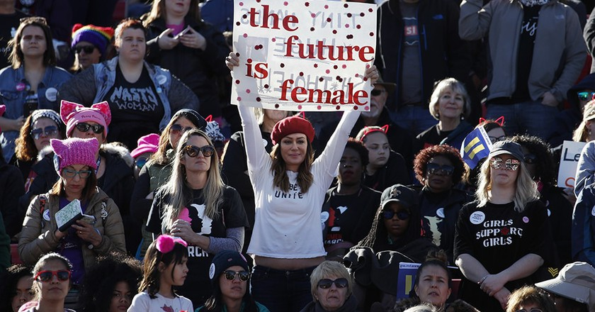 People cheer during a women's march rally, Las Vegas | © John Locher/AP/REX/Shutterstock