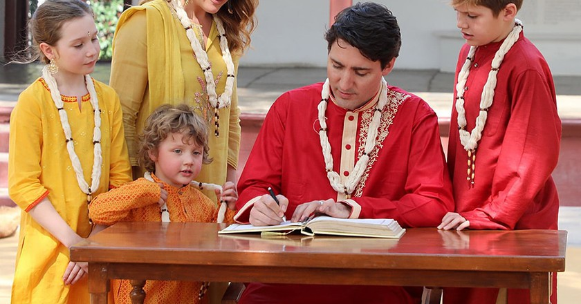 Justin Trudeau with family in Ahmedabad, India | © GOVERNMENT OF GUJARAT HANDOUT/EPA-EFE/REX/Shutterstock