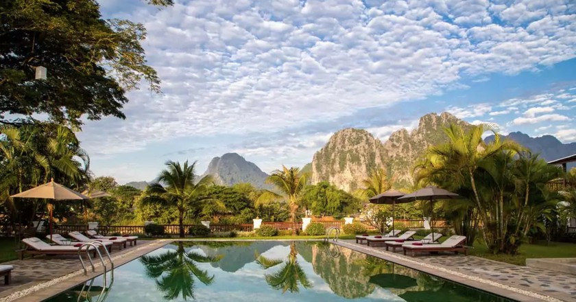 Pool | © Vang Vieng Riverside Boutique Resort/Hotels.com