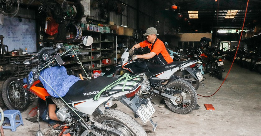 Motorbikes are extremely popular when getting around Vietnam