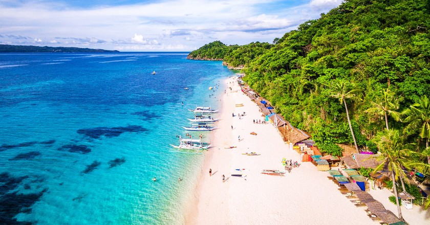 Aerial View of Boracay Island