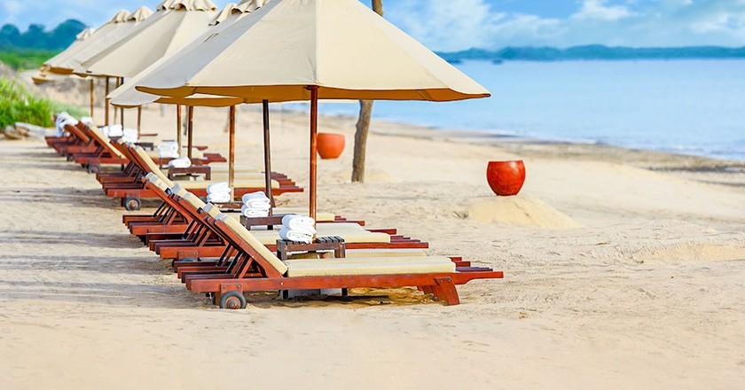Beach sunbed at Uga Jungle Beach | Courtesy of Uga Jungle Beach