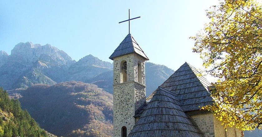 Theth, one of the nicest villages of Albania located in the Albanian Alps area