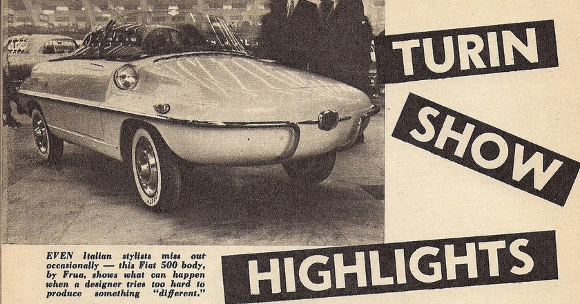 1958 Turin Show promotional material showing a new car design from Fiat | Photo © John Lloyd/Flickr