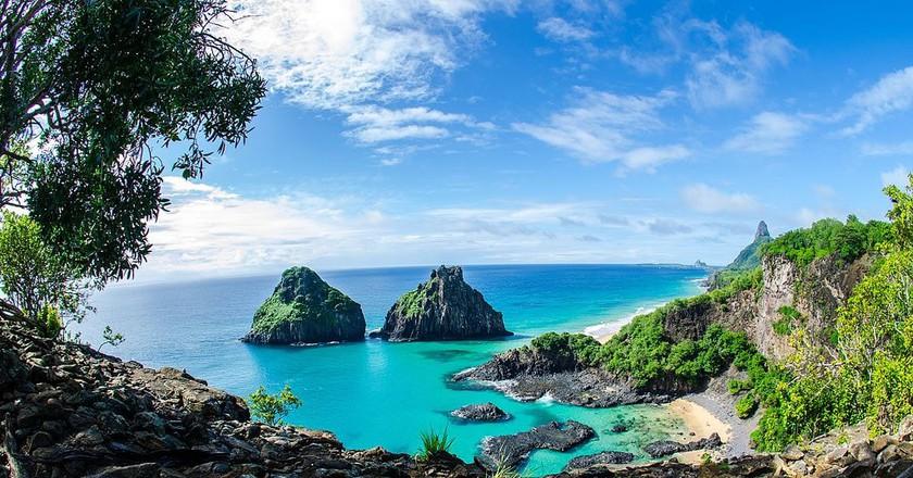 The gorgeous ocean views of Fernando de Noronha | © Walter Ferry Dissmann/WikiCommons