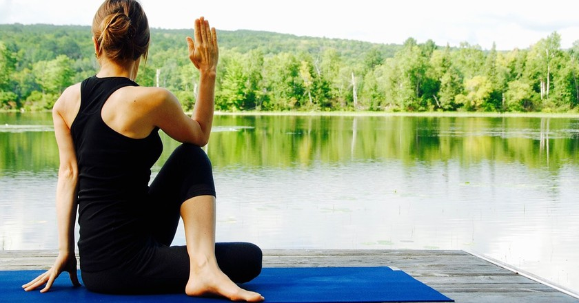 Woman Yoga Meditation   Max Pixel