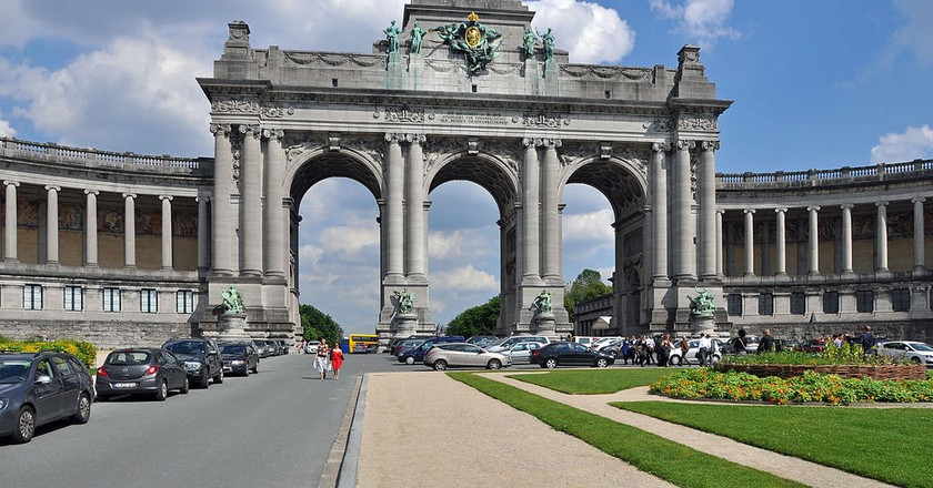 Triumphal Arch of the Cinquantenaire in Brussels