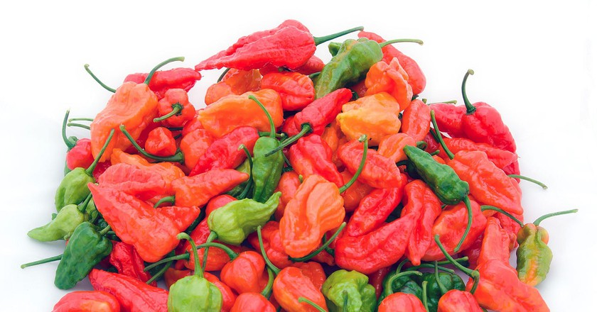 Bhut jolokia, known as the hottest chilli in the world, is used in various Northeast Indian dishes