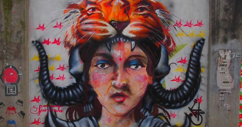 Street art in Kathmandu