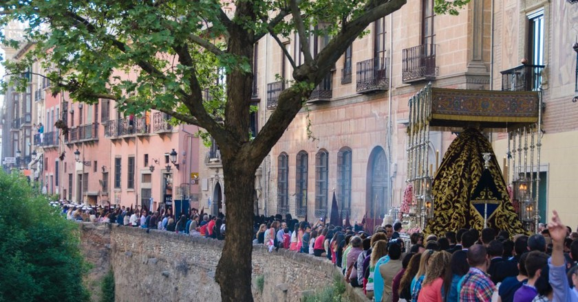 Semana Santa (Holy Week) celebrations in Granada, Spain; Oscar Daniel Rangel Huerta/flickr
