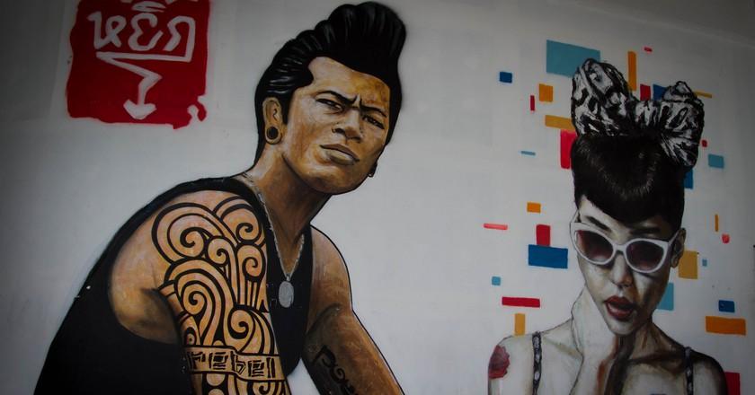Cool street art in Bangkok