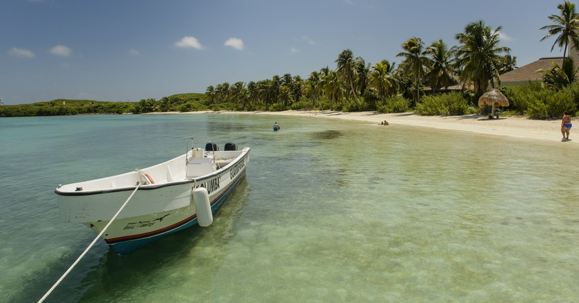 The bay of Isla Contoy