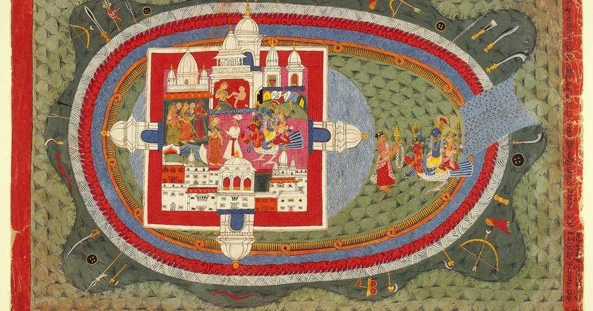 Scenes from the Story of Narakasura, Folio from a Bhagavata Purana | © Ashley Van Haeften / Flickr