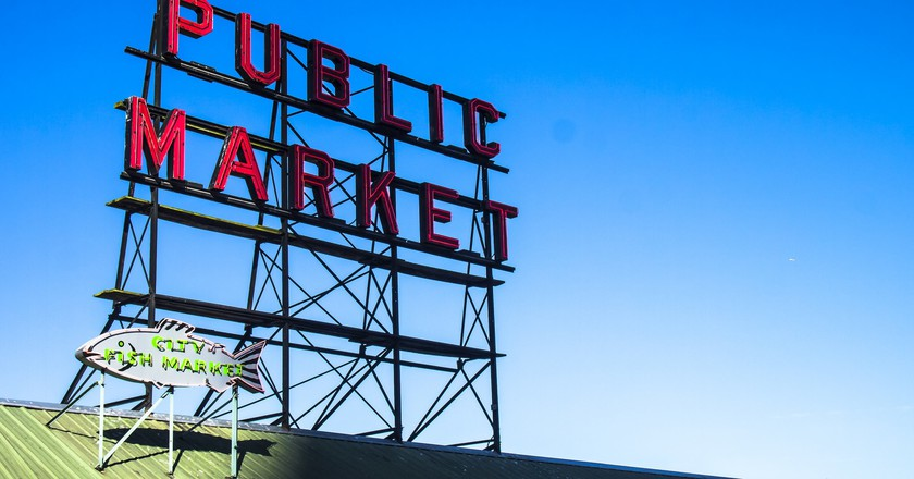 Pike Place Public Market Sign