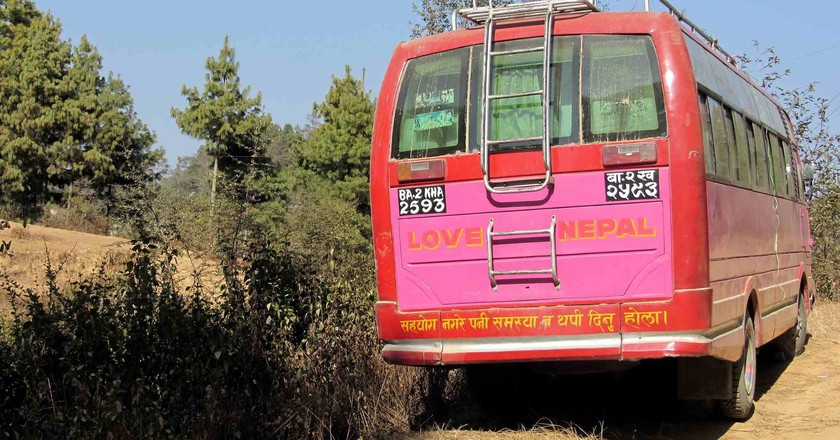 Bus travel in Nepal can be gruelling