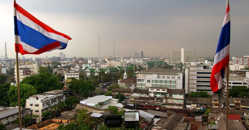 Thai flags   © Bernard Spragg. NZ / Flickr