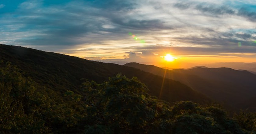 Sunset from Craggy Gardens on the Blue Ridge Parkway