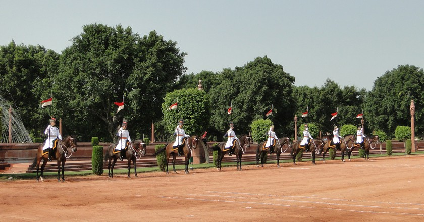 Change of Guards at the President's official residence, Rashtrapati Bhavan, New Delhi
