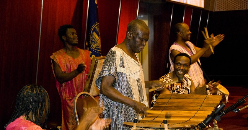 Ghana's Okropong in a tour playing traditional rhythms