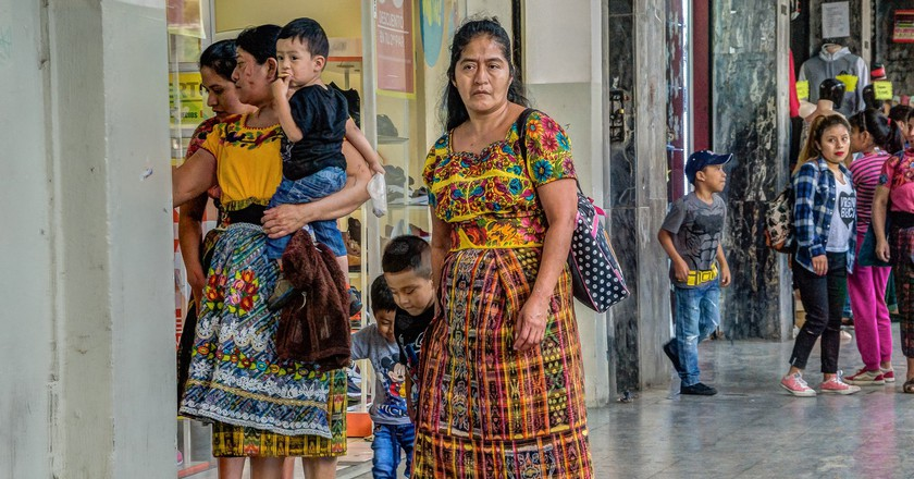 Traditional Mayan dress is a common sight in Guatemala City ©  Steven dosRemedios /flickr
