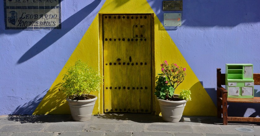 Colourful doorways of Puebla, Mexico
