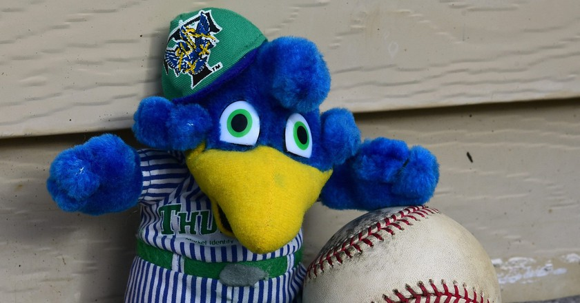 The mascot of the Trenton Thunder