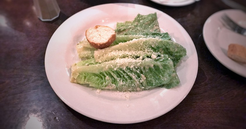 The original Caesar salad served at Caesar's Restaurant only