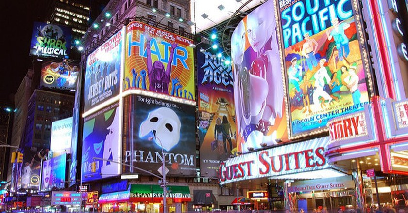 Times Square is always a bustling centre of activity