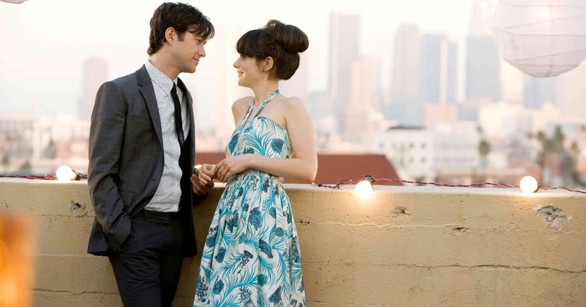 "Joseph Gordon-Levitt and Zooey Deschanel in ""(500) Days of Summer."""