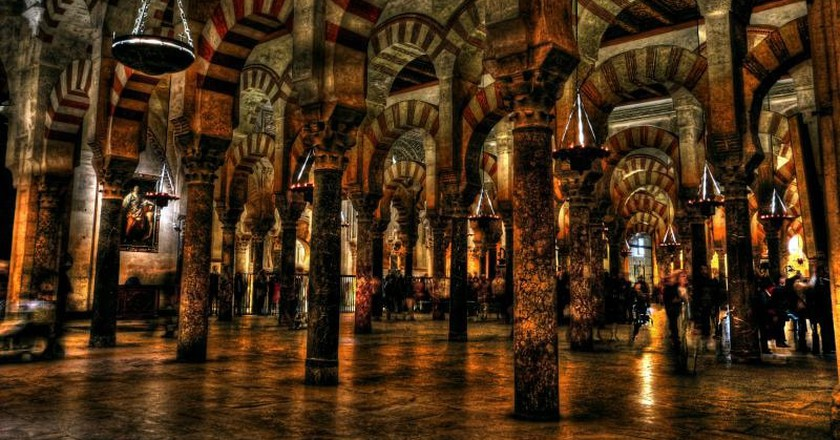 The famous double-arched columns in Córdoba's Mosque-Cathedral; Xavier/flickr