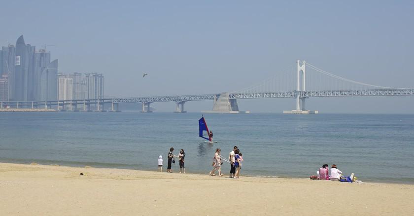 Summer at Gwanganli Beach, Busan, South Korea