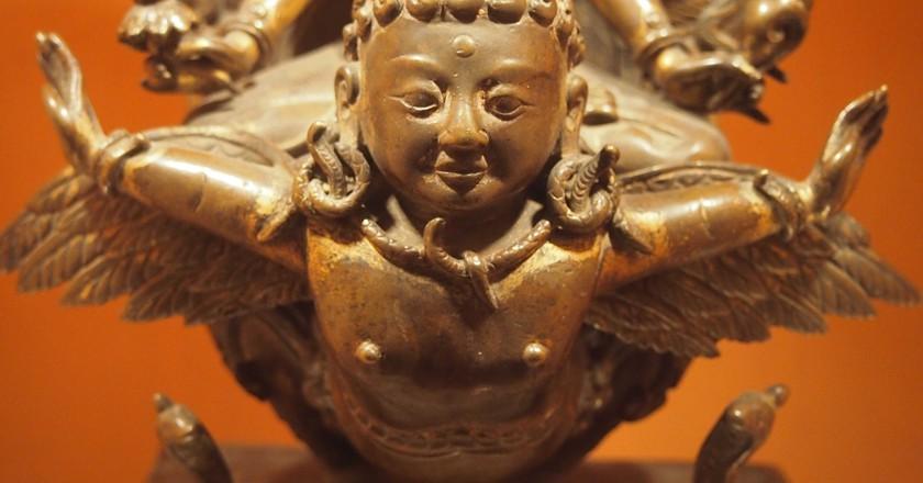 Bronze Garuda statue in the Patan Museum |©Elen Turner