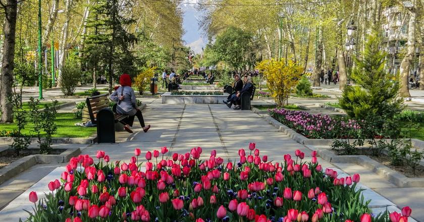 Mellat Park is a peaceful respite in Tehran