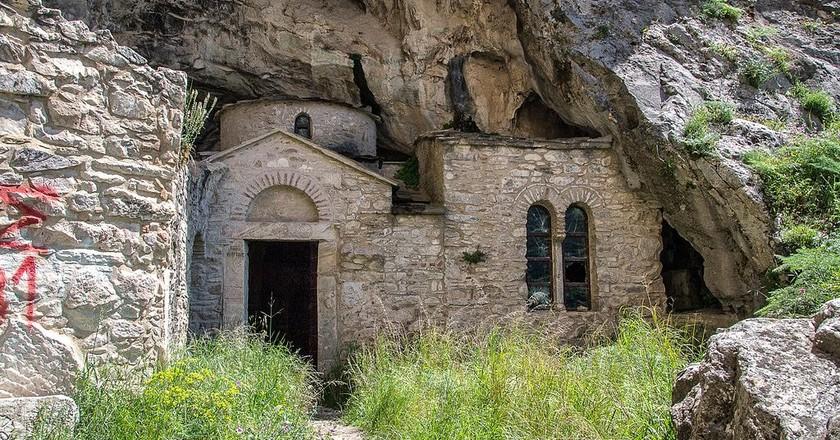 Byzantine church at Davelis Cave