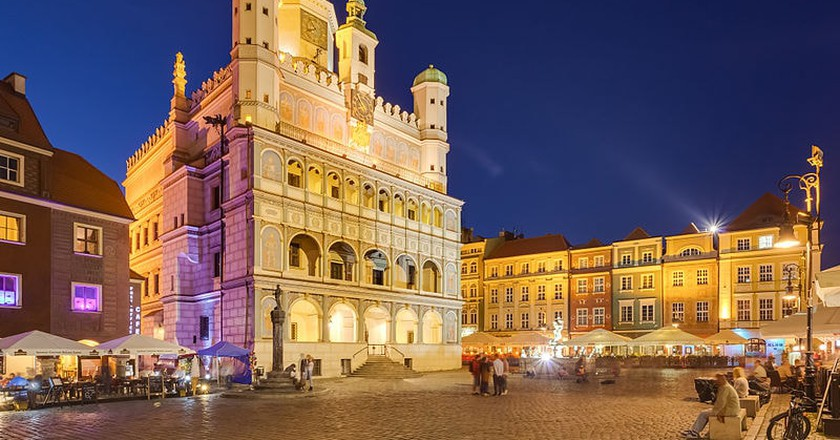 Poznań at night | © Diego Delso / WikiCommons