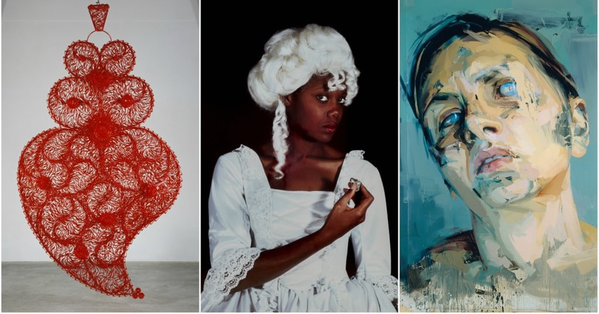 Red Independent Heart #3, 2008, © Joana Vasconcelos, | 'In Focus: Scottish Photography', Terpsichore, © Maud Sulter, Courtesy of Street Level Photoworks | Rosetta II, 2005 - 2006, © Jenny Saville, Courtesy Of The Artist And Gagosian