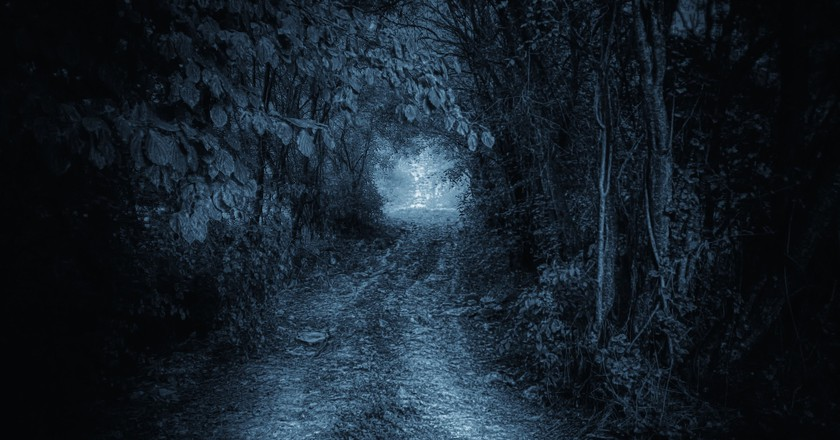 A mysterious road leading to jungle