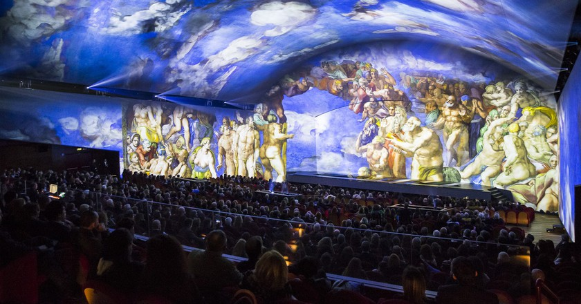View of Universal Judgement: Michelangelo and the Secrets of the Sistine Chapel