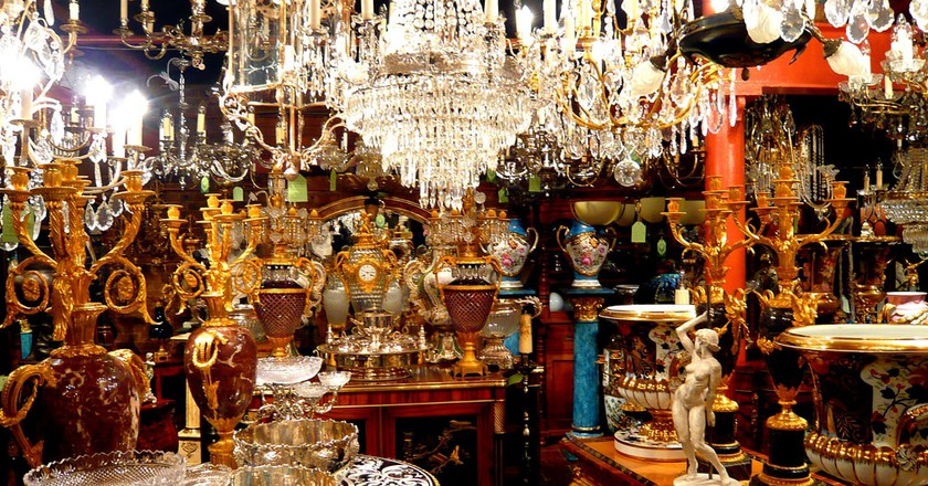 The treasures of an antique shop