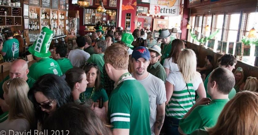 St. Patrick's Day celebration at The Libertine Bar on Lower Greenville Avenue, Dallas, TX