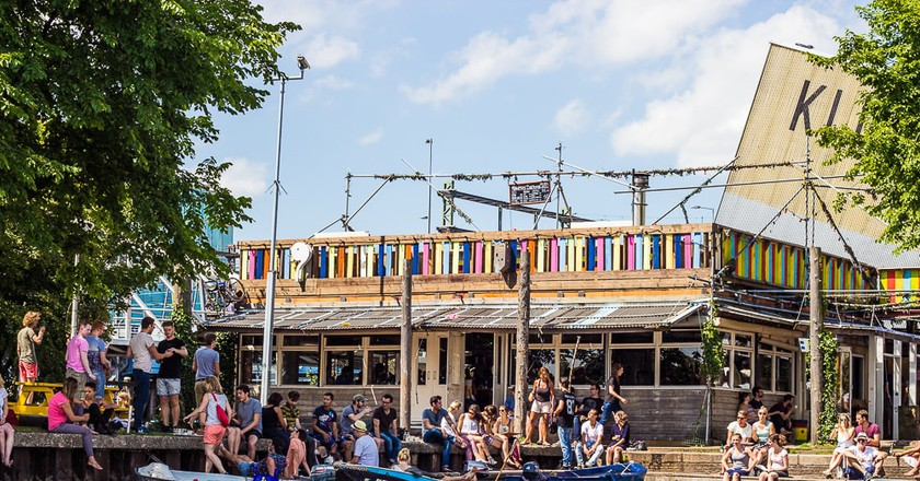 Hanneks Boom looks like a beachside bar (even though it is located in central Amsterdam)