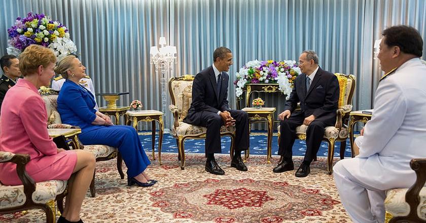 With President Obama   © Pete Souza / WikiCommons