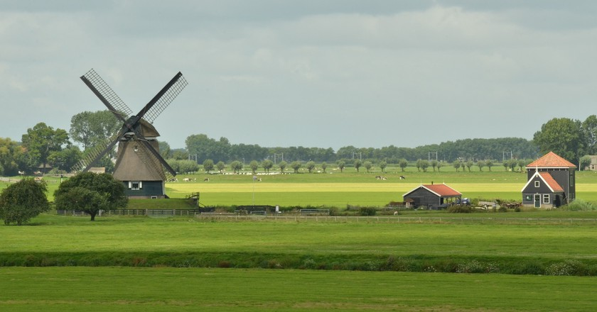 Farmlands in the Netherlands