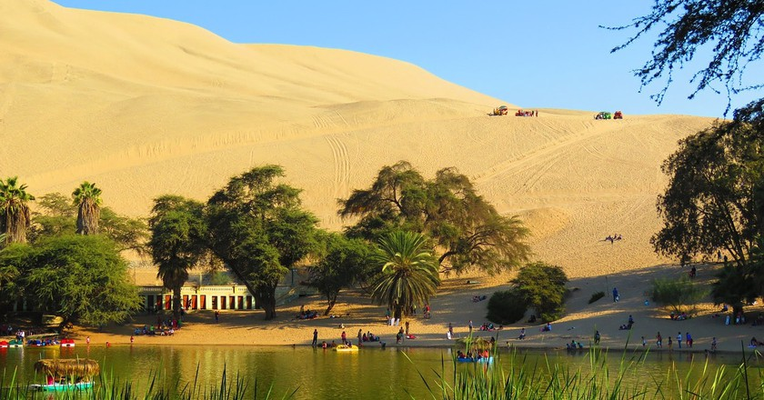 The oasis just outside of Ica, Peru