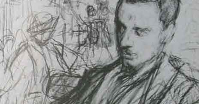 An early sketch of Leonid Pasternak's portrait of Rilke in Moscow | © Alex Bakharev / Wikimedia Commons