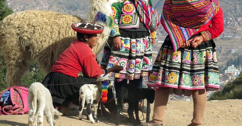 Traditional Peruvian dresses