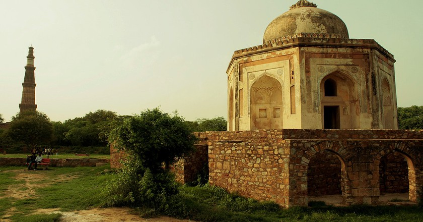 Ruins of Sir Thomas Metcalfe's Dilkusha at the Mehrauli Archaeological Park