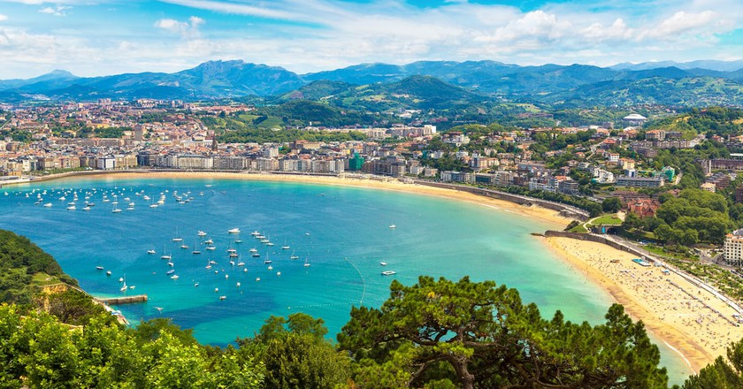 Panoramic view of San Sebastián, Spain