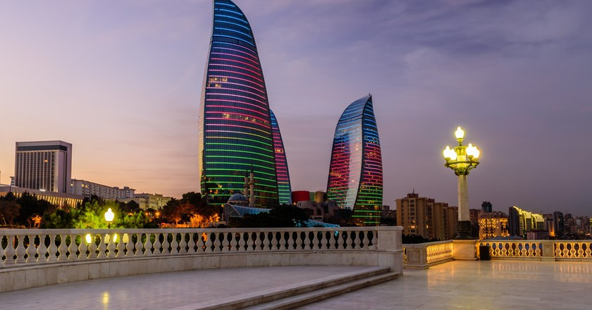 Flame Towers in Baku on the night | © RAndrei / Shutterstock