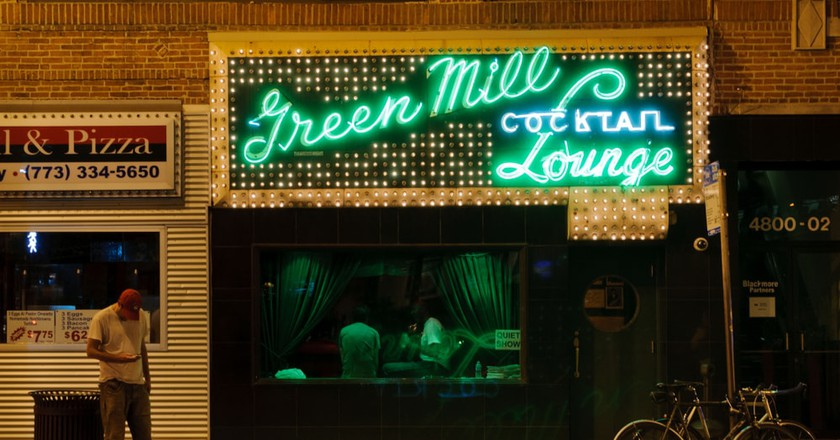 The famous Green Mill Cocktail Lounge in Chicago, Illinois